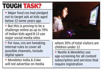 Major food companies like Mondelez India onslaught to equivocate preteens online