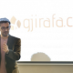 Co-founder and CEO Mergim Cahani of Gjirafa pitches. His association is stuffing a media blank for Albanian-speakers (image, Rockaway Capital)